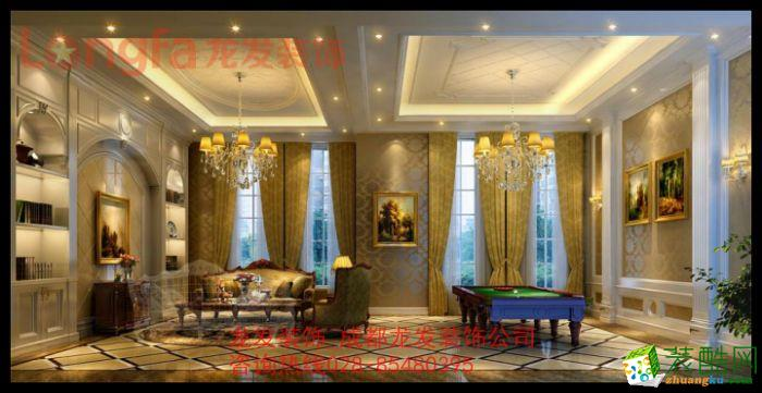 鹭湖宫别墅装修奢华欧式风格样板间