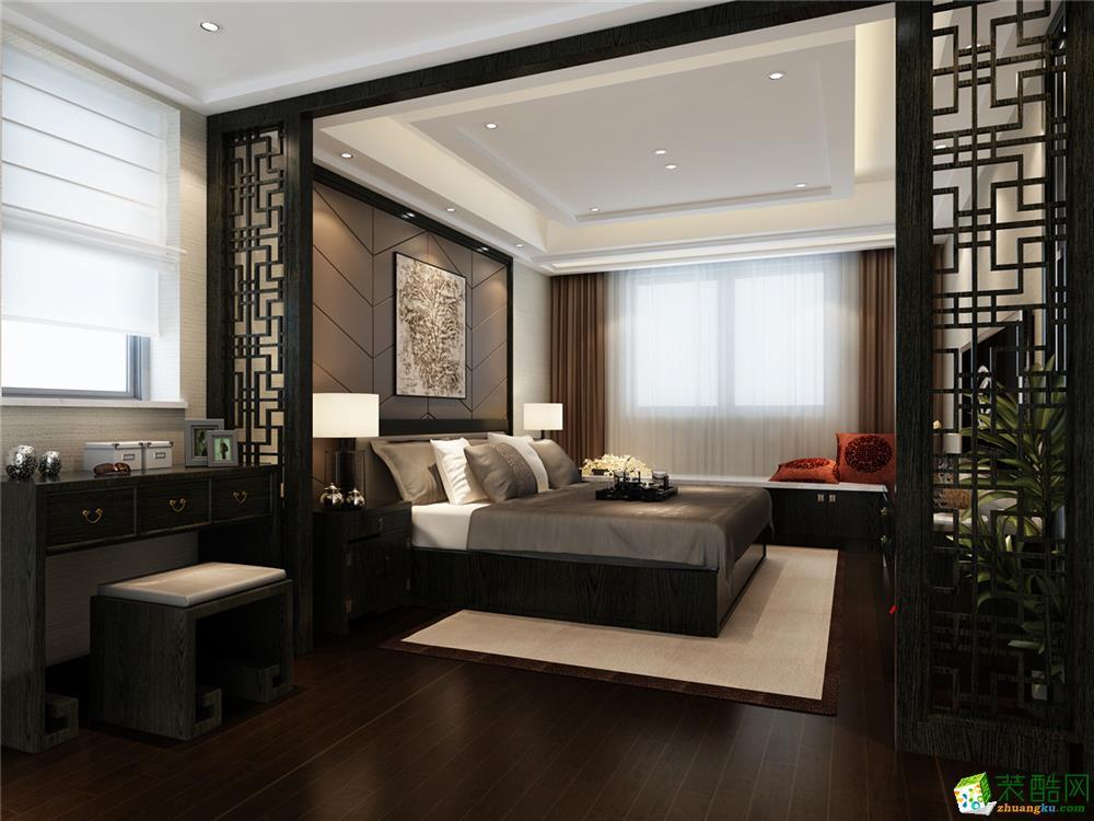 永业公寓大平层新中式风格设计 中式风格 四室两厅两卫图片
