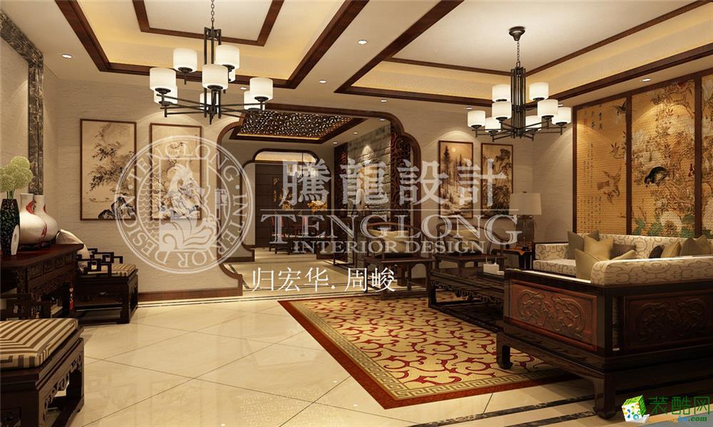 四季御庭别墅户型装修新中式风格设计方案展示,上海聚通装潢最新设计