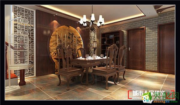>> 淄博黄金国际装修 城市人家 复试中式风格古典韵味案例赏析图片