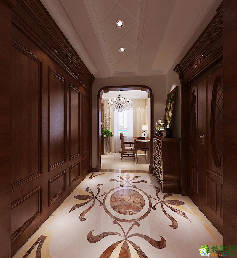 之峰装饰】金地艺境300平米欧式风情设计案例欣赏 欧式风格 跃层住宅图片