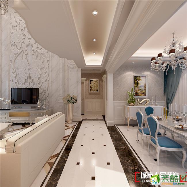 白色欧式别墅客厅