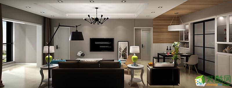盛唐城94平米三室两厅F1户型现代风格