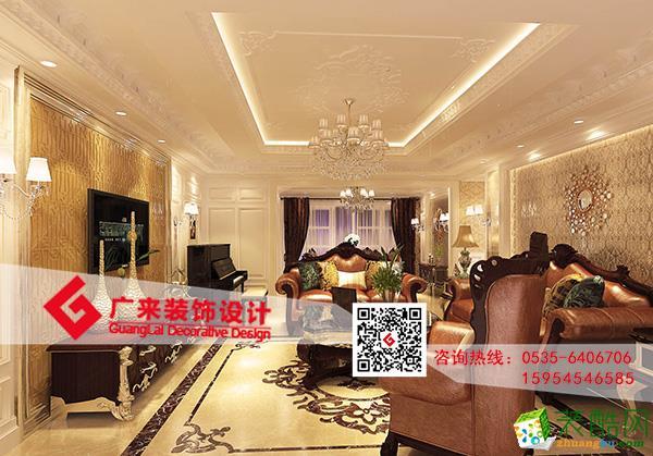 【烟台广来装饰】中海紫御公馆三室一厅古典欧式效果图
