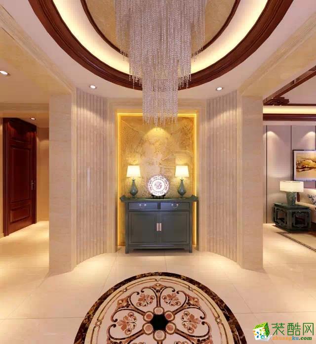 过道吊顶 入户大厅装修效果图-沈阳海天装饰 保利康桥208平