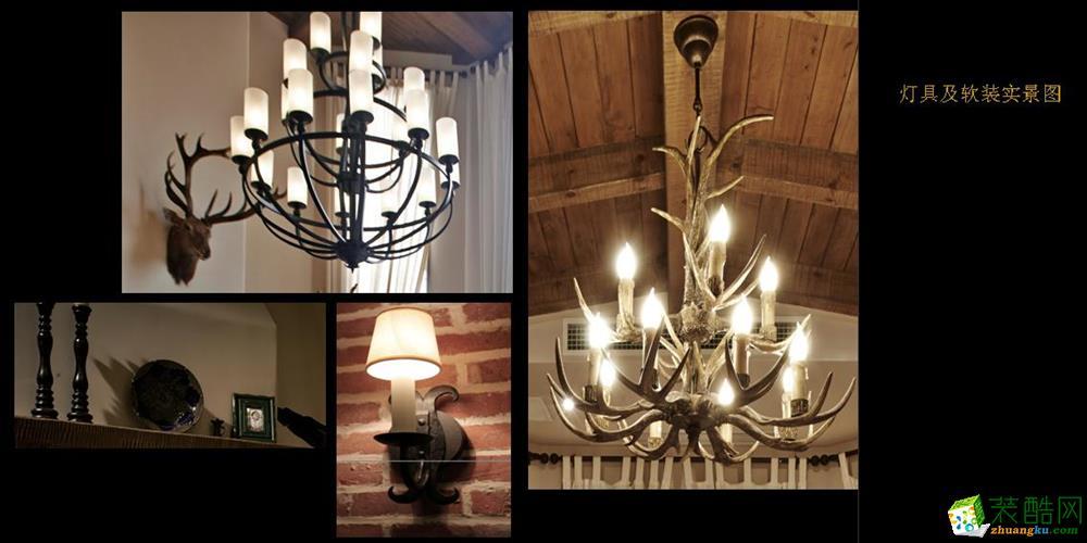 客厅吊顶装修效果图,超美中式灯具