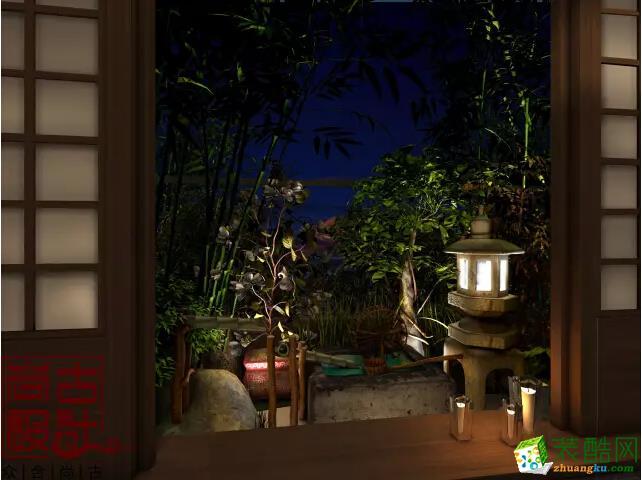 别墅窗外花园效果图图片