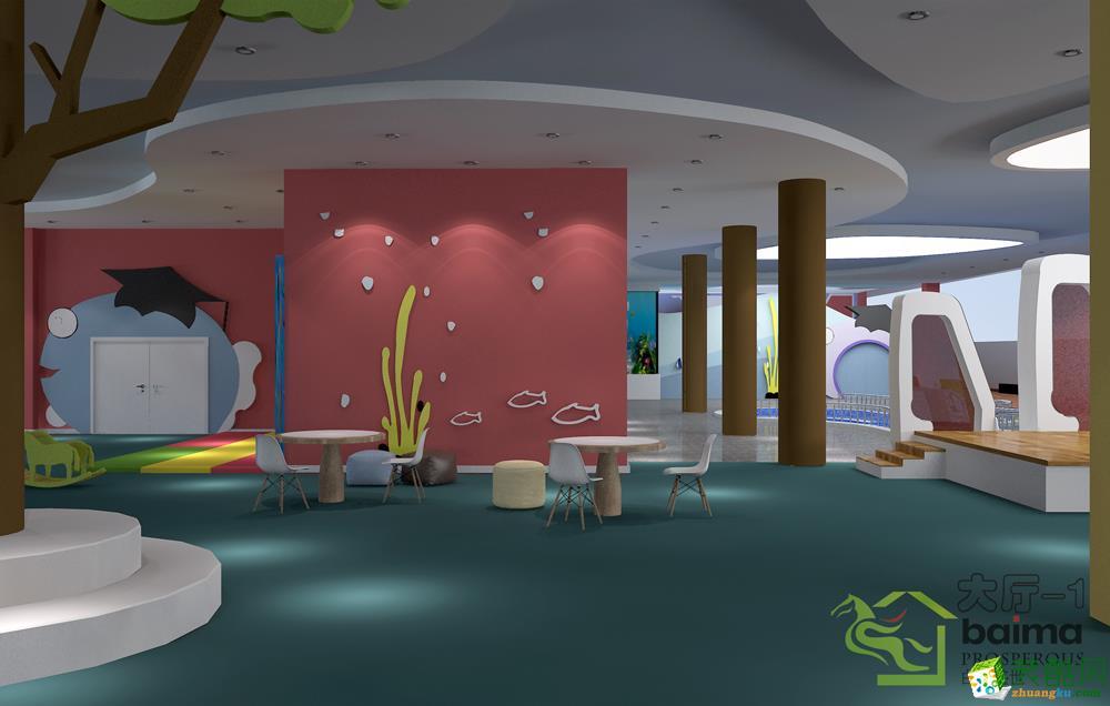 >> 中式风格幼儿园装修效果图