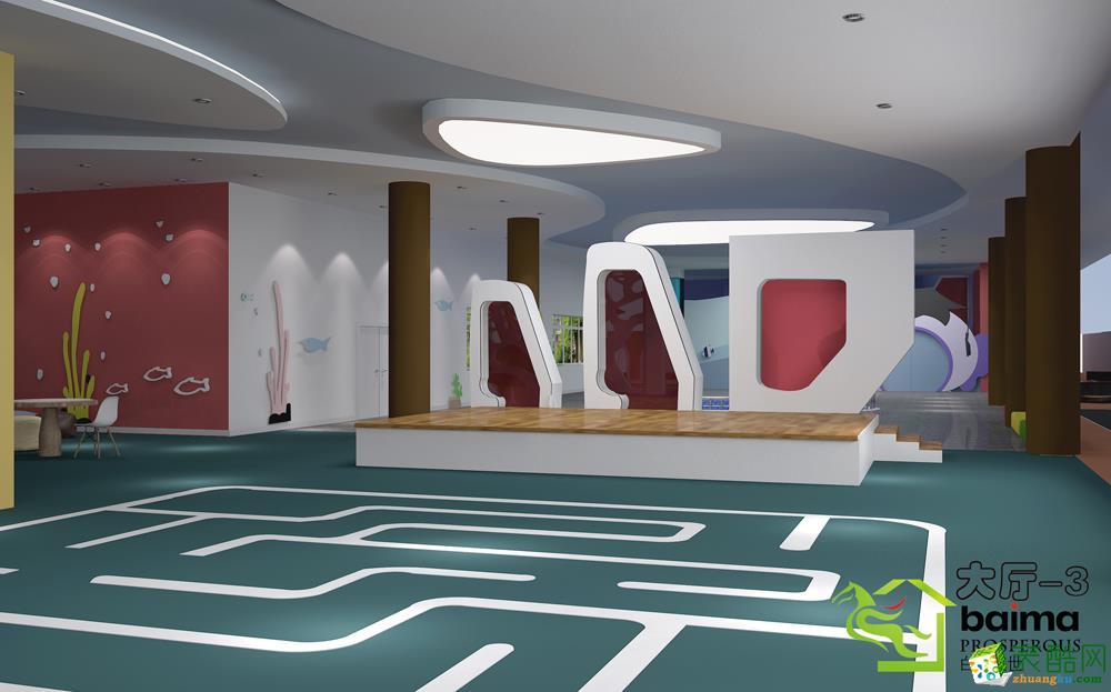 中式风格幼儿园装修效果图