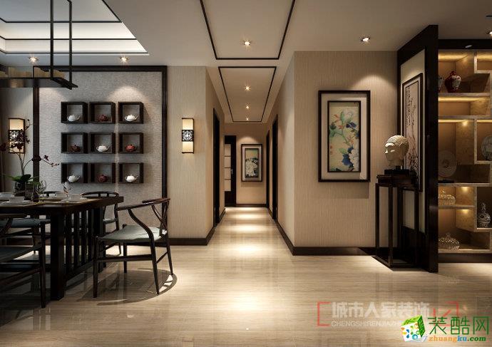 >>淄博装修主任设计师张振发170新中式收费景观河南案例设计院怎么设计图片