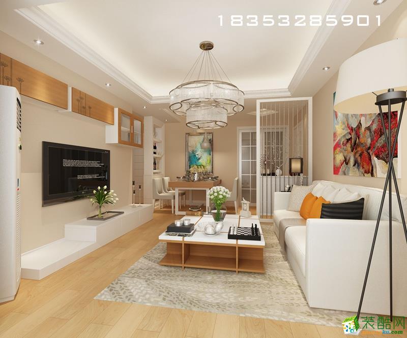 海爾鼎世華府91平米簡約婚房裝修設計-30%進口材料