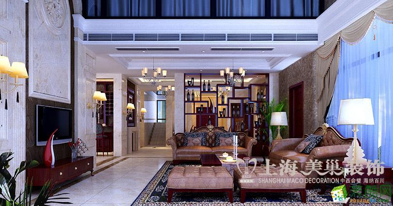 银基王朝新古典风格装修240平四居室样板间