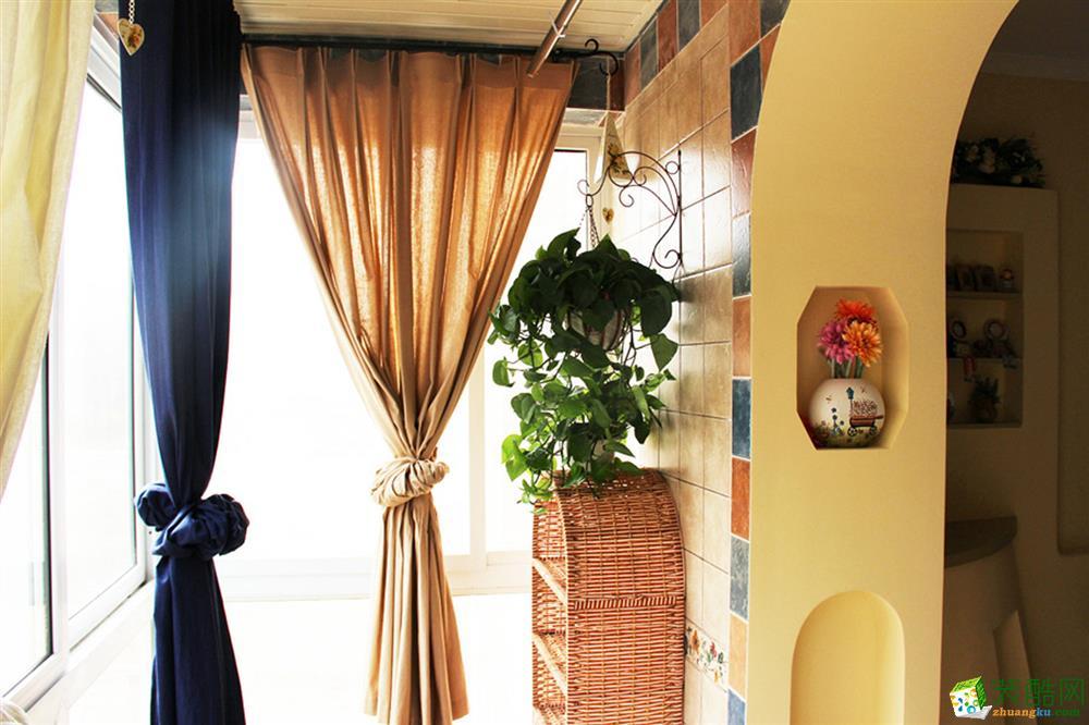 阳台窗帘装饰效果图