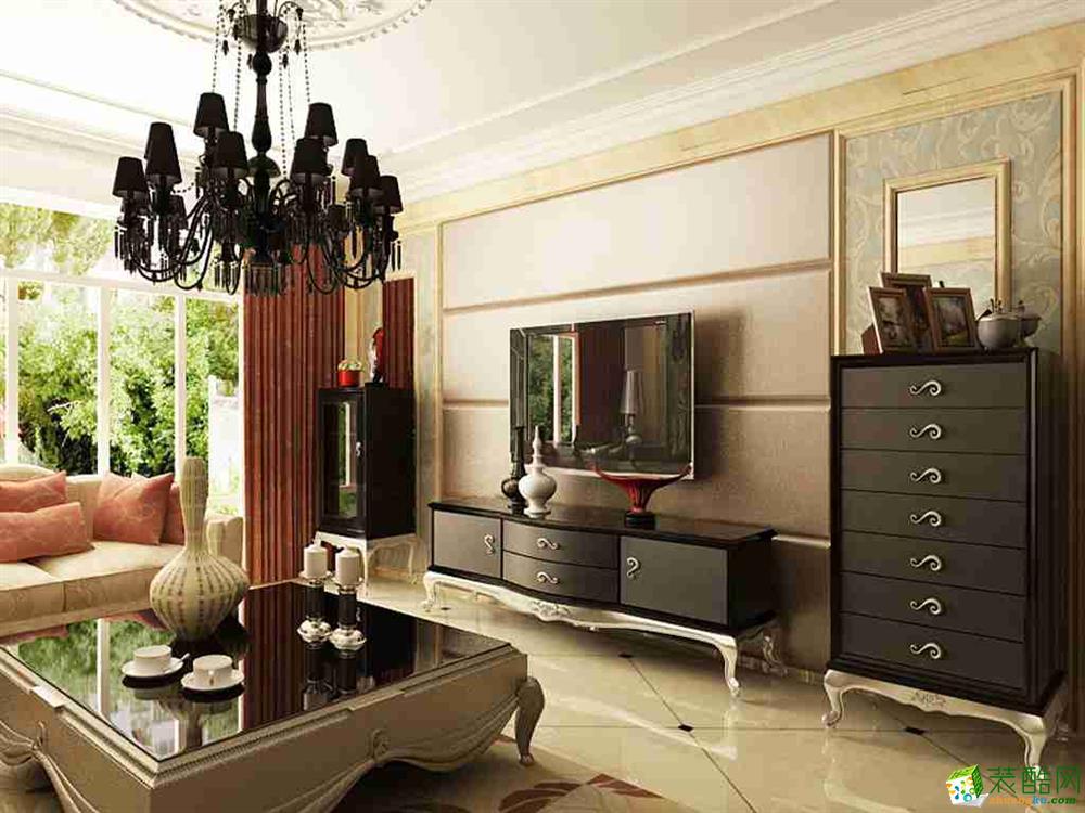 金地名京120平欧式风格装修效果图 欧式风格 三室一厅一卫图片