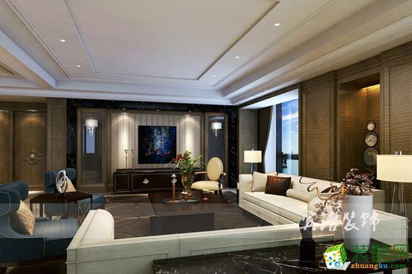 客廳【賓治裝飾】現代風格別墅設計裝飾案例客廳效果