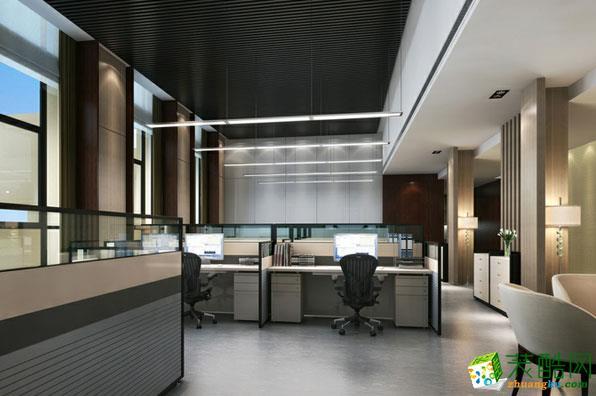 【宾治装饰】现代大气办公室设计装饰案例