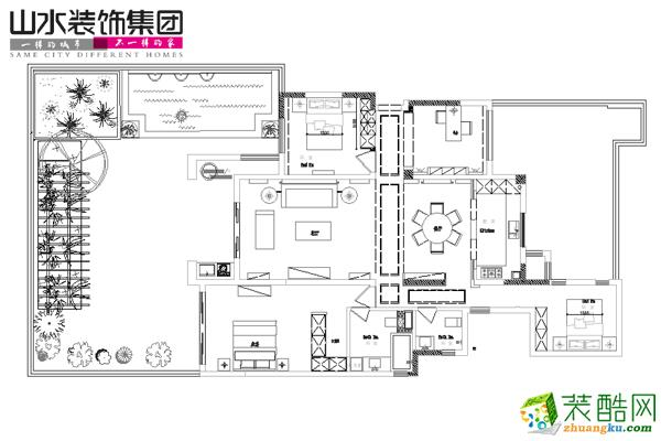 萬科森林公園159平米戶型設計圖