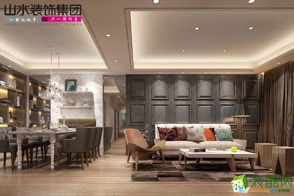 海亮九璽小區的房子裝修是那家公司 歐式風格 三室兩廳兩衛