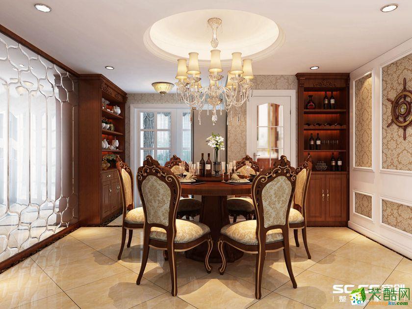 110平三居室欧式风格装修设计