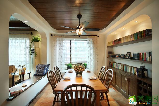 110平米房子装修 中式风格 三室两厅一卫