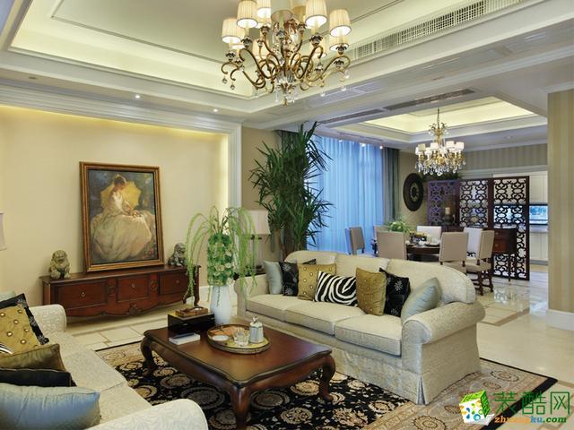 半包14.2万欧式优雅居,顶面装饰做得太好了!