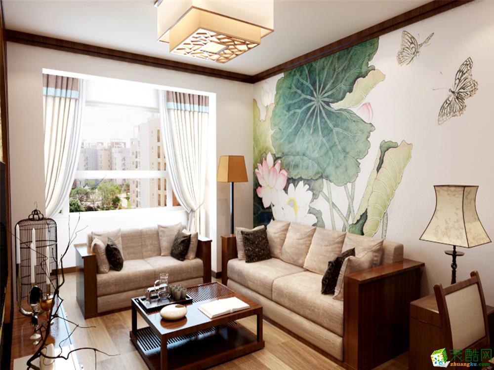 中式风格两室装修效果图 经典收藏_装酷网装修效果图