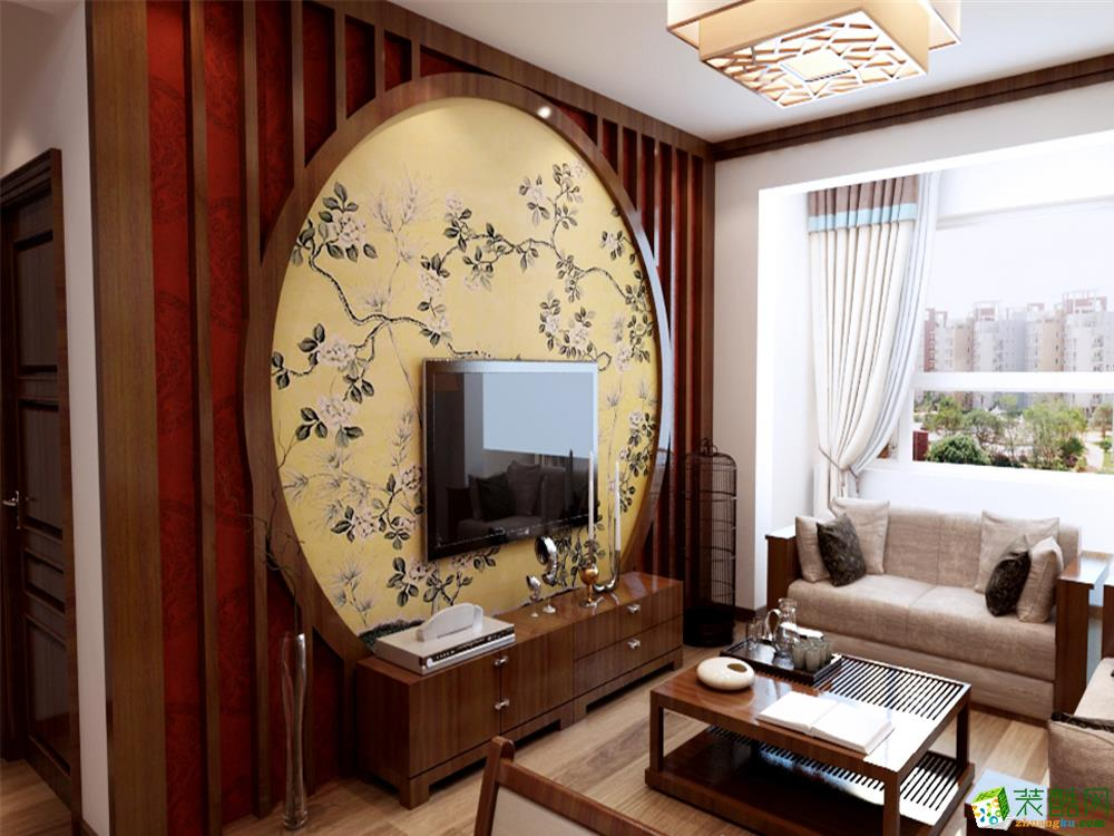 家居装饰效果图-玻璃推拉门图片(客厅