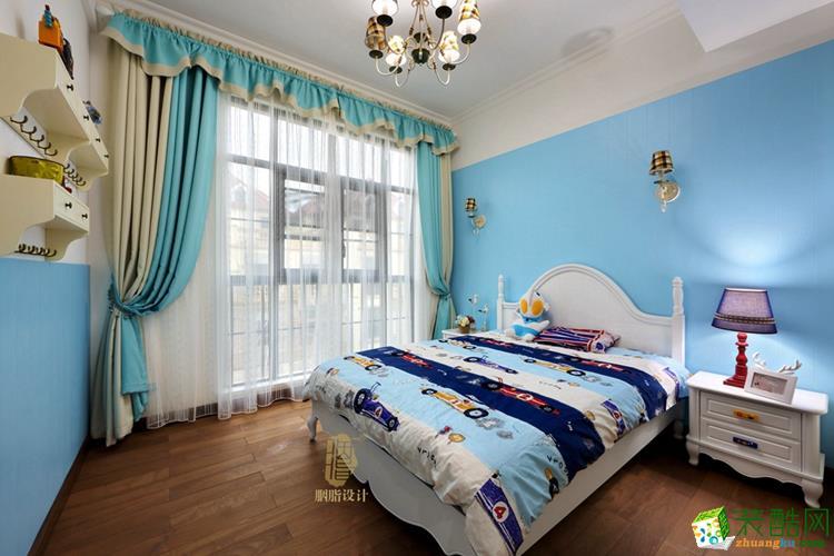 蓝色儿童房装修效果图