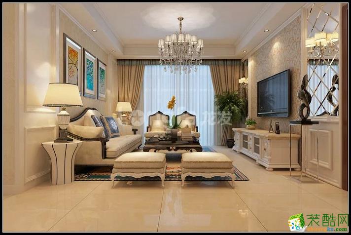 華清學府城三居室簡歐風格