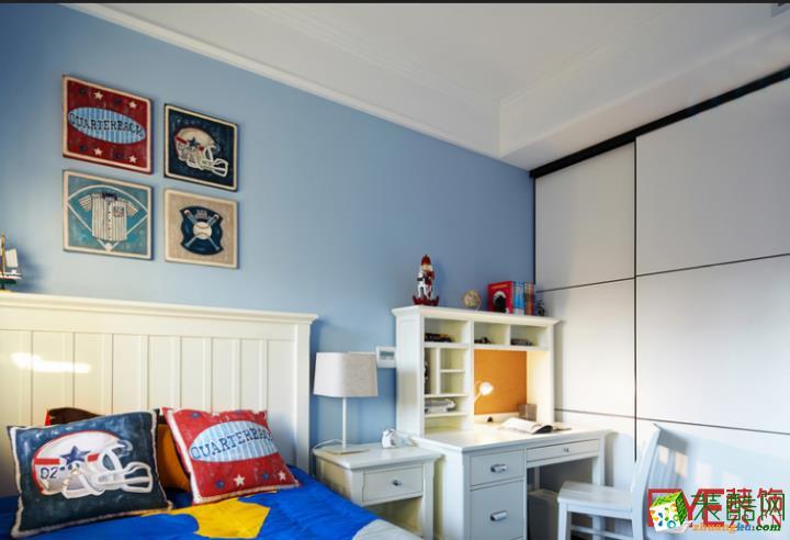 蓝色活泼儿童房装修效果图