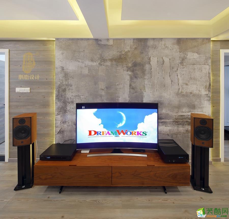 极简客厅电视背景墙效果图