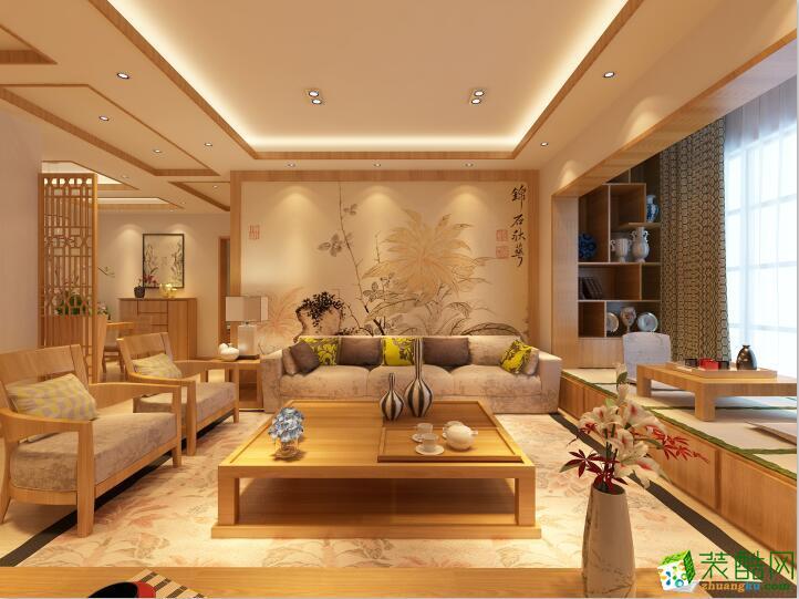 客厅 未来方舟120平米三居室日式风格装修案例