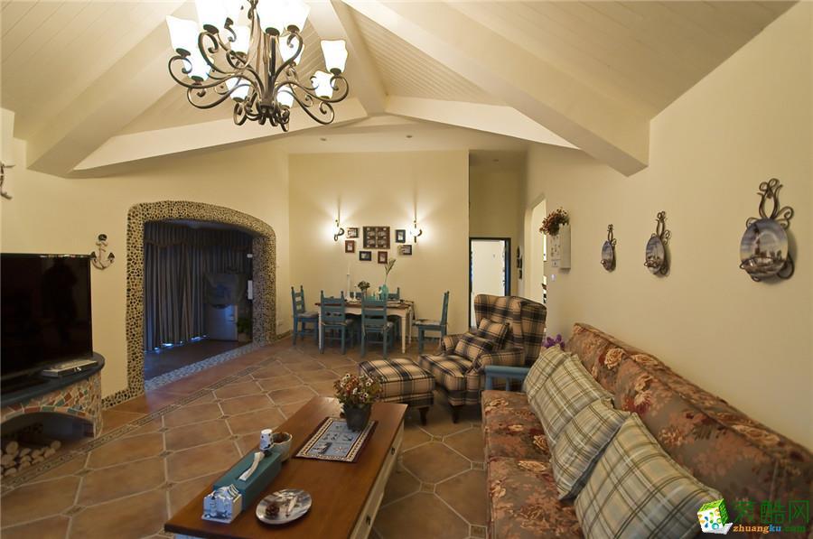 客厅复古地砖装修效果图