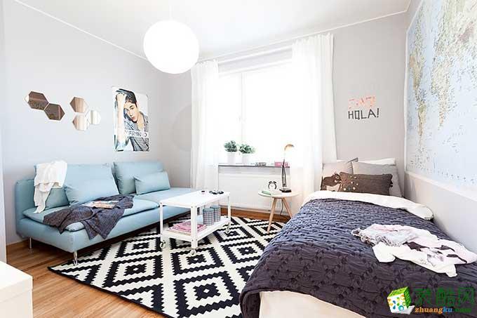 110�O三居室北欧风格装修