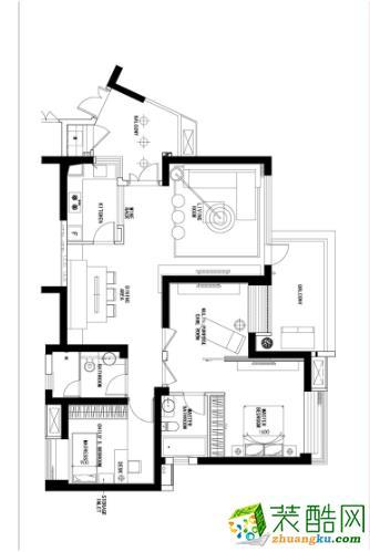 120平房子装修平面图