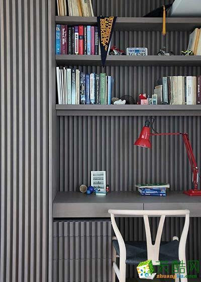 日式书房柜体造型装修设计图片
