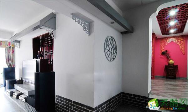 现代中式混搭一室装修设计效果图