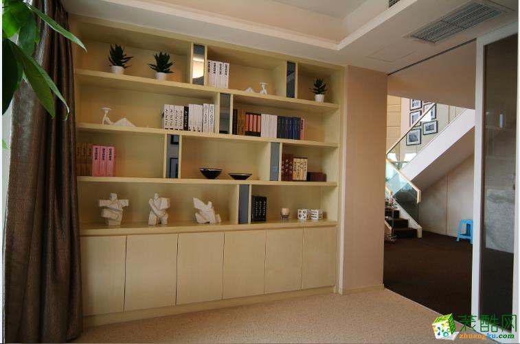 现代时尚书柜装饰柜装修效果图