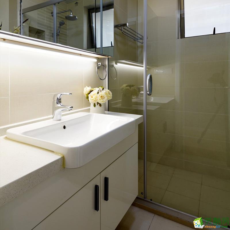 卫浴 时尚现代浴柜设计图册 【西安实创装饰】纯净北欧混搭风