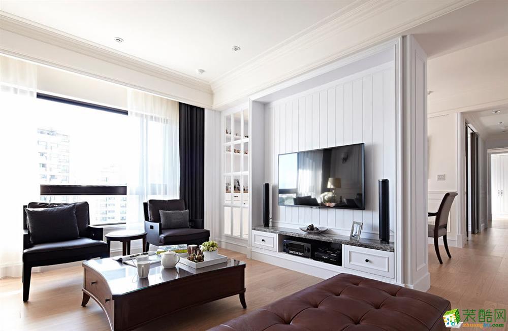 欧式风格客厅电视墙设计图