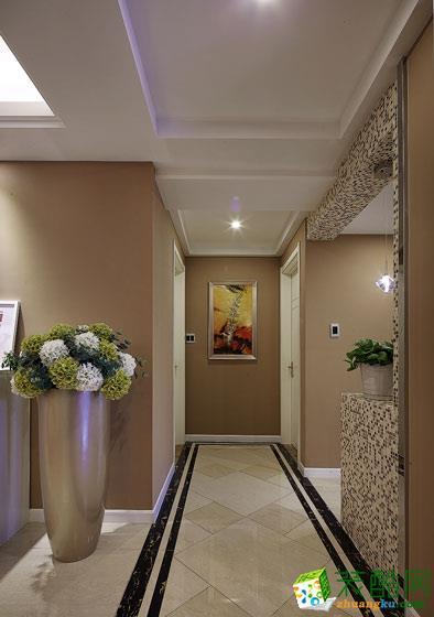 过道吊顶 客厅过道地面拼花效果图 100平米两室一厅简约风格装修