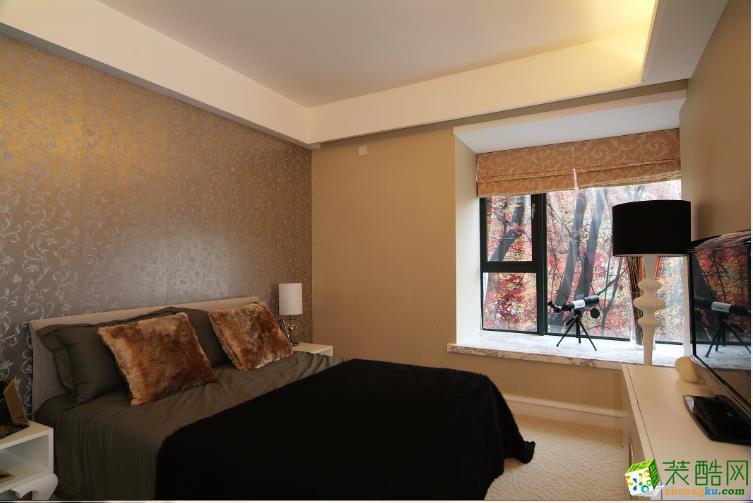 低调奢华床头背景墙设计