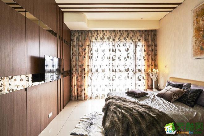 124平米日式禅意家三居室装修