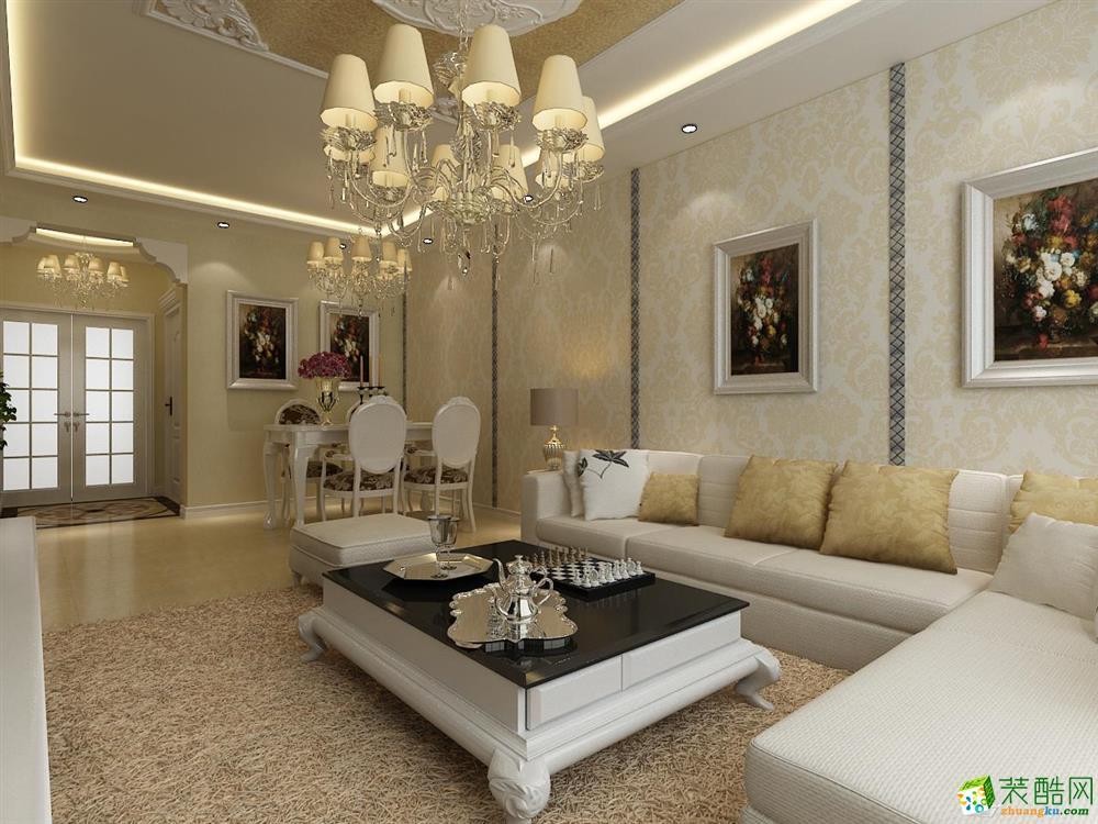 简欧风格装仹�b9��9f_>> 【金地铂悦】90㎡两室两厅简欧风格