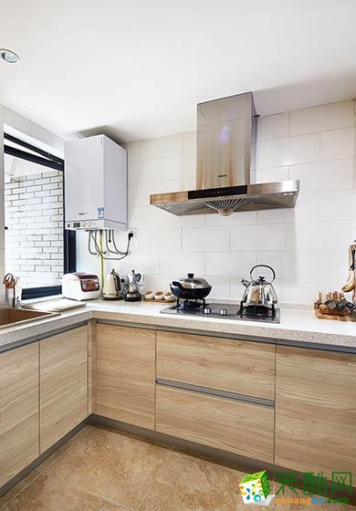 L型适用厨房装修设计效果图
