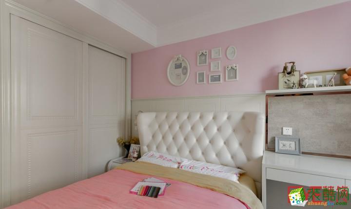温馨甜美儿童房装修设计图片 床头非常甜美