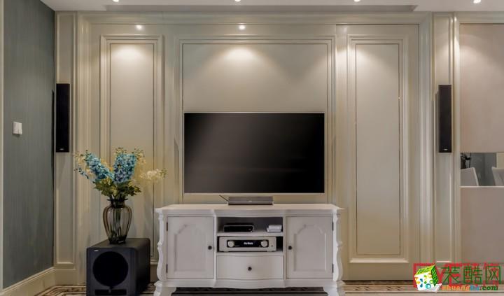欧式包边电视背景墙装修设计图片