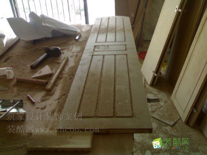 木工施工现场效果图_装酷网装修案例