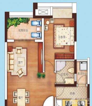 45平米一室改两室,看过的人都说户型好!