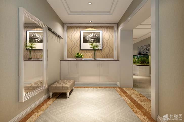 120平三居室现代美式装修效果图高清图片